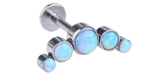 Chevron Cluster Opal Body Piercing Top. Body Jewelry