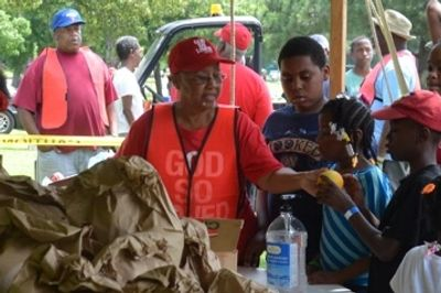 Feeding our young Fishing Rodeo  participants