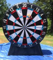 8 ft. tall Velcro Dart Board.