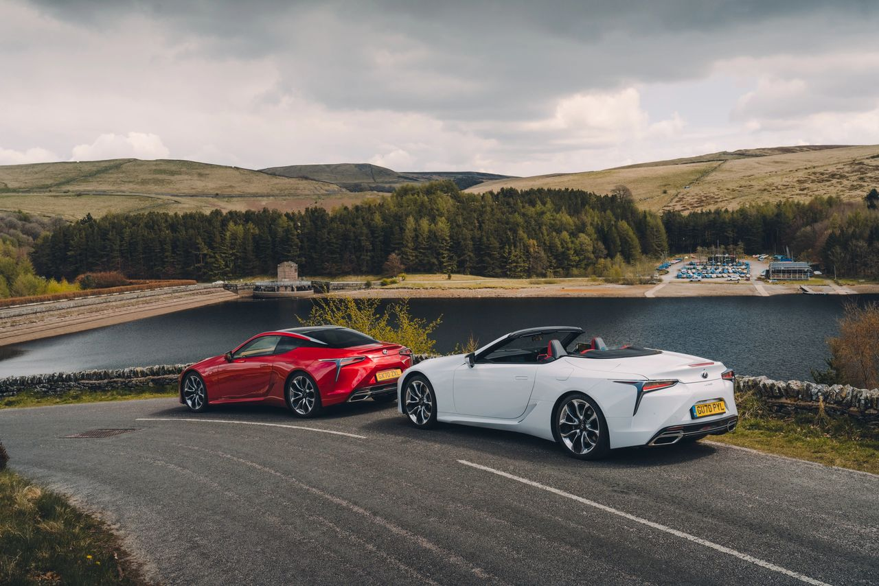 Lexus duo in the Lake District.