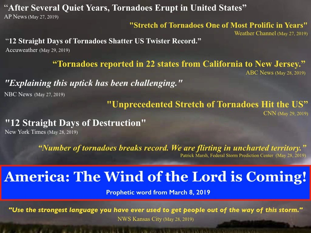 America: The Wind of the Lord is Coming!