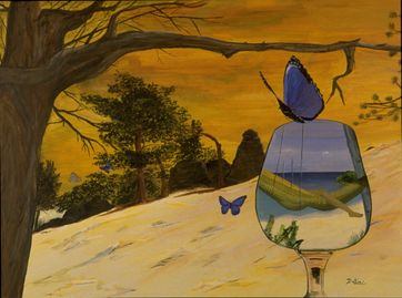 Butterflies and wineglasse  by Dalia Garcia, Singer/songwriter, Garcia and Scott, Julio Iglesias