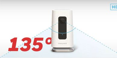 Honeywell C1 home security camera has 135° wide angle view