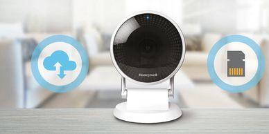 Honeywell C2 home security camera has cloud and micro SD storage