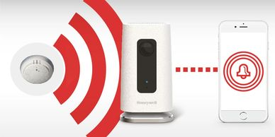 Honeywell C1 home security camera has intelligent sound detection