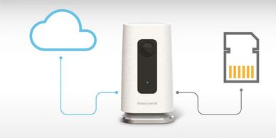 Honeywell C1 home security camera has cloud and micro SD storage