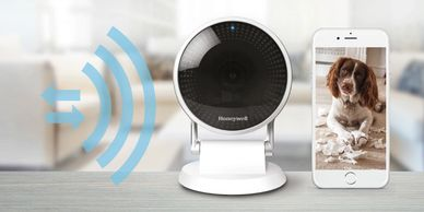 Honeywell C2 home security camera has two-way audio