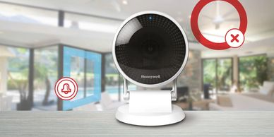 Honeywell C2 home security camera has adjustable alert zones