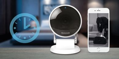 Honeywell C2 home security camera has night vision