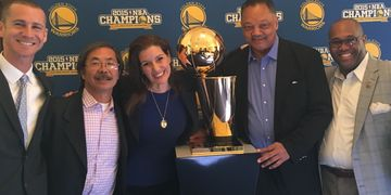 NBA Champions!  Golden State Warriors, pic. Butch Wing, Rev. Jesse L. Jackson, Dr. Joseph Bryant