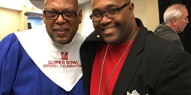 Dr. Joseph Bryant & Pastor Emerre Patterson, Superbowl Champion and member of the elite NFL Choir.