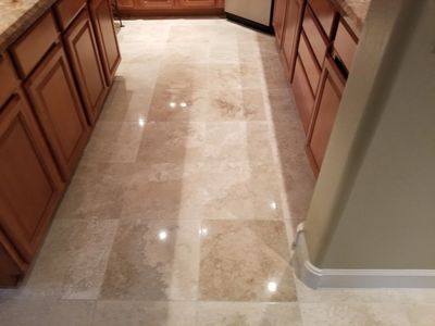 Travertine polishing, sealing Scottsdale