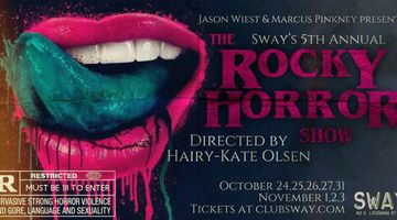 See The Rocky Horror Show live in Little Rock at Club Sway this Halloween season!