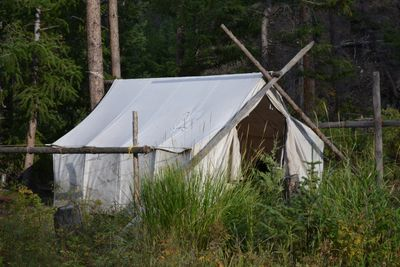 Wilderness Wall Tent Hunting Camp- Elk Fork Outfitters