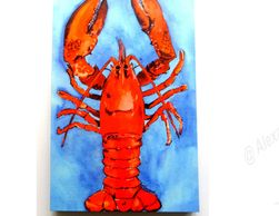 print on canvas, lobster