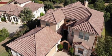 Spanish tile roof clean