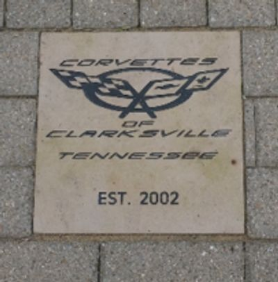 Brick at the National Corvette Museum