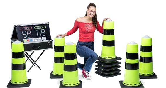 Interactive gaming cones, campus activities in Greensboro NC, Winston Salem NC, inflatable game rent