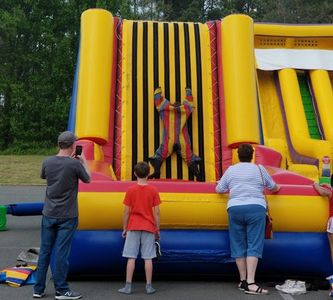 Velcro wall inflatable school carnivals, festivals spring events, Durham NC, Christianburg VA inflat