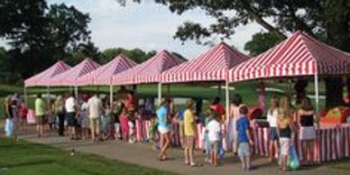 CARNIVAL TENT RENTAL, RED AND WHITE TENT RENTAL VA, NC