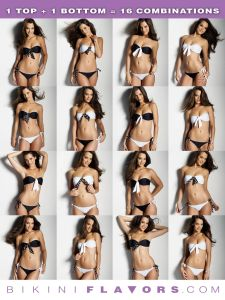 Create more than 16 different looks out of a bandeau bikini!