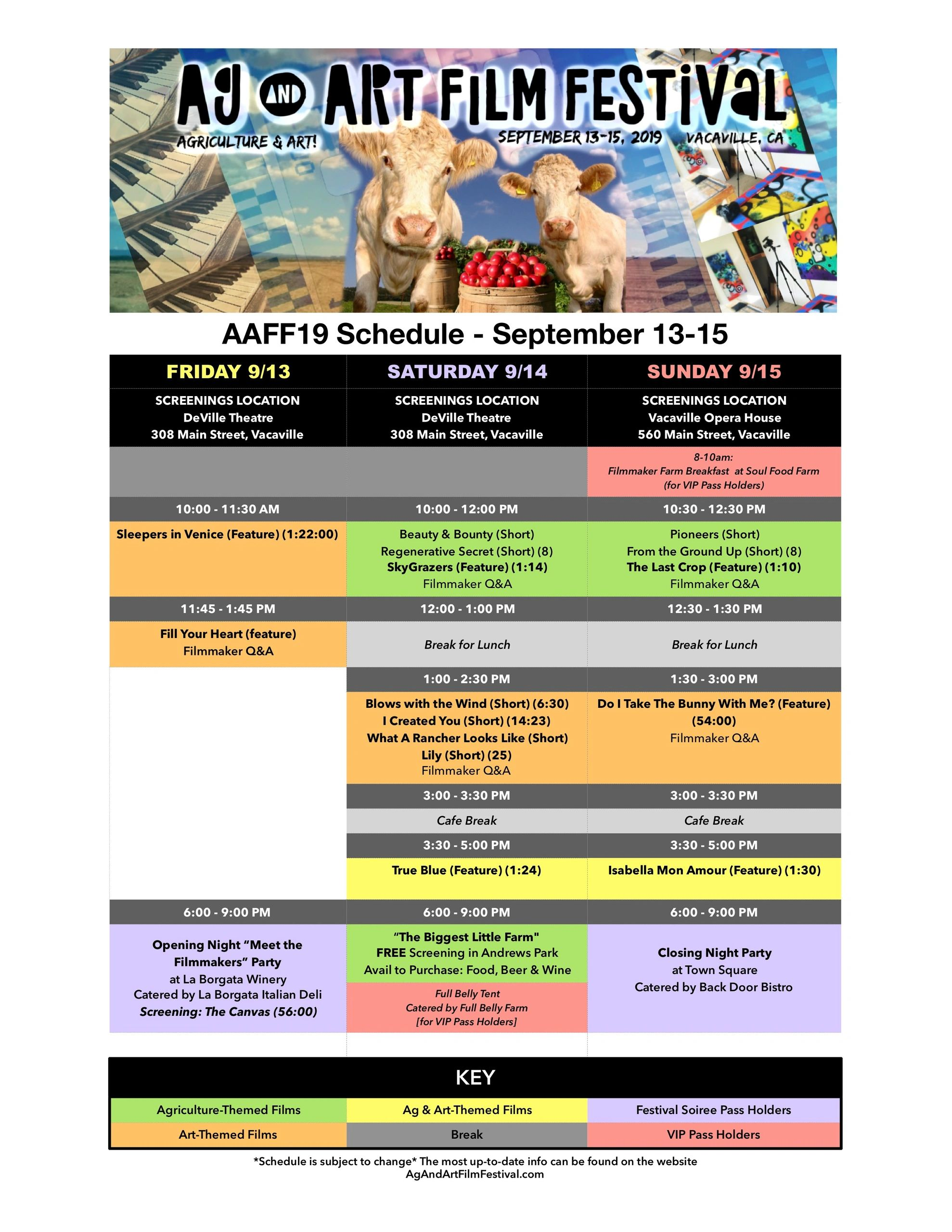 VIP PASSES ARE SOLD OUT!] Ag & Art Film Festival in