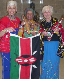 Phyllis, Doreen Stratton and Alice Sparks at the 20th International Day, North Penn High School
