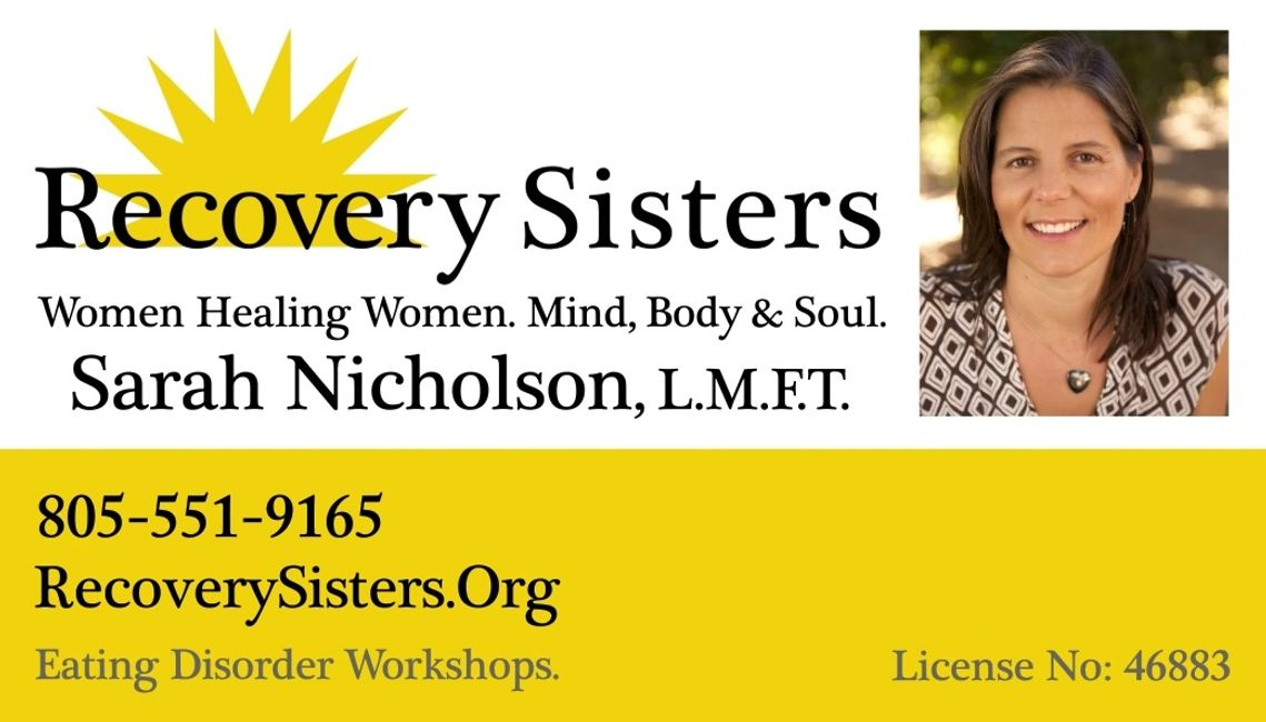 Recovery sisters are a group of women in recovery from eating disorders who meet weekly.