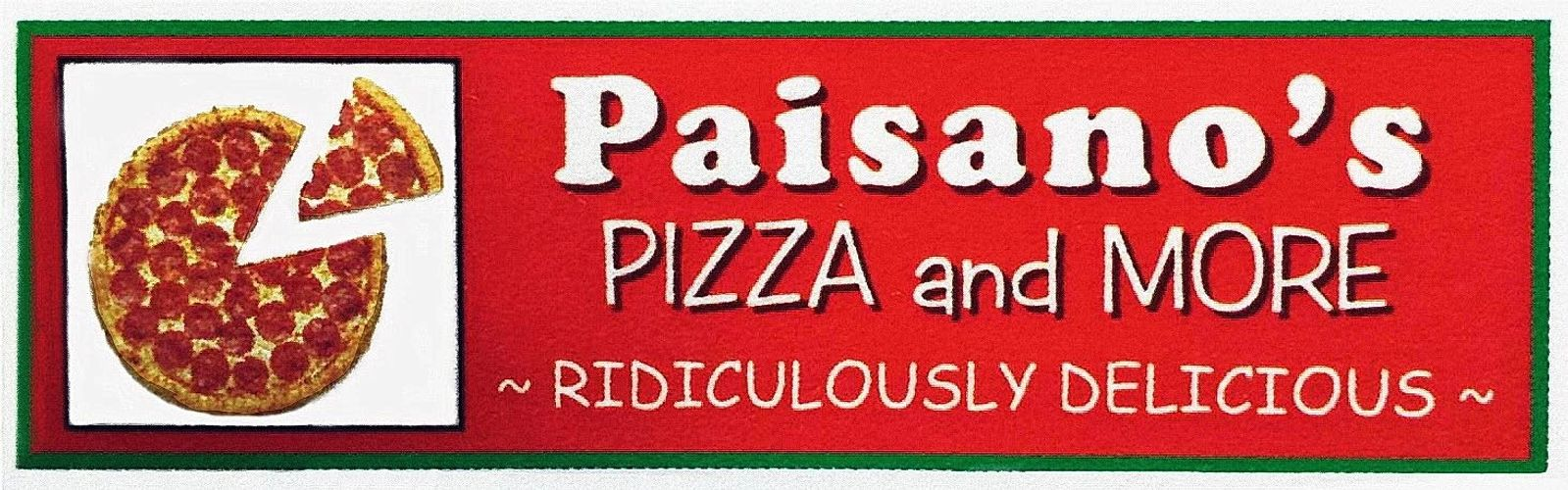 Pizza, Subs, Pasta, Wings, Ribs, Salad, Desserts, Dinners, Catering, Bakery, Paisano's Pizza