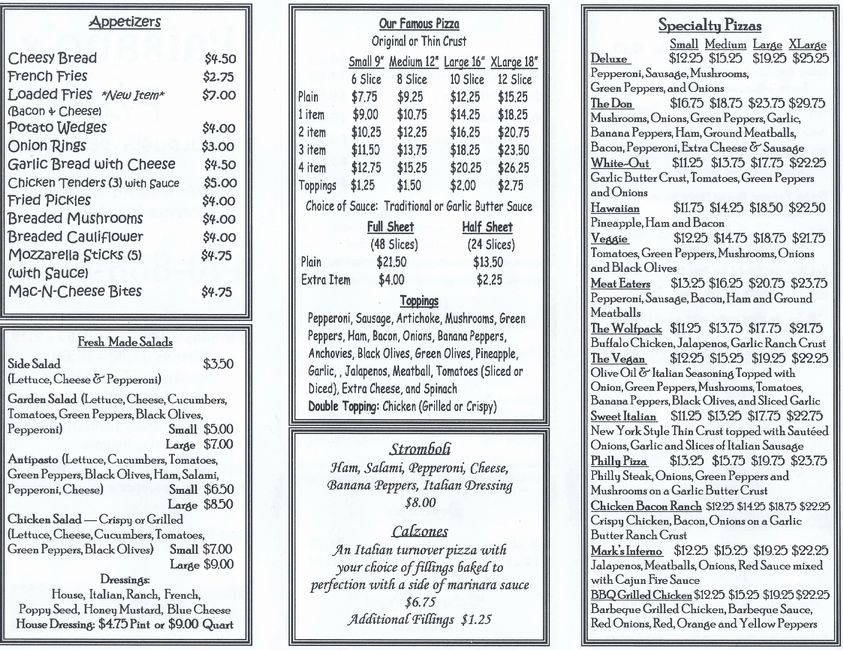 Paisanos Pizza - Parma Heights - Menu -Pizza, Food and Desserts