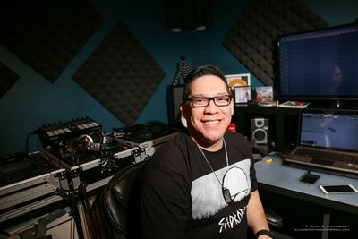 Sean Beaver in his home studio. A majority of his music producing is done here.