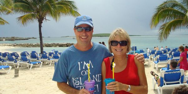 Jennifer and Terry in the Bahamas - their second favorite beach!