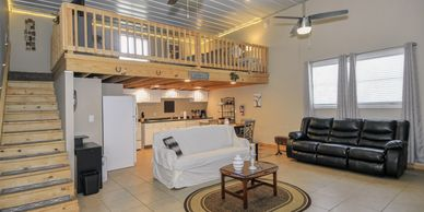 Stay  for your wedding night or if  out of town guest come in we  have this loft apt. available.