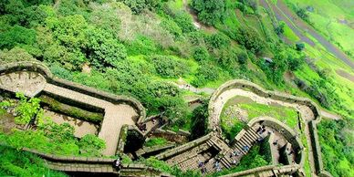 the beautiful Western Ghats at Lohagad Fort situated in one of the most loved weekend destinations,