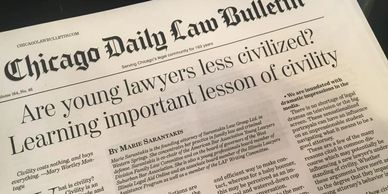 Marie Sarantakis published in the Chicago Daily Law Bulletin