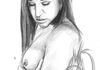 "Abella Danger, Graphite pencils on 11""x14"" Bristol Vellum paper. Watermark does not appear on purchased products."