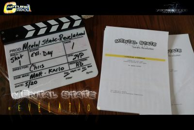 screenplay and slate marker