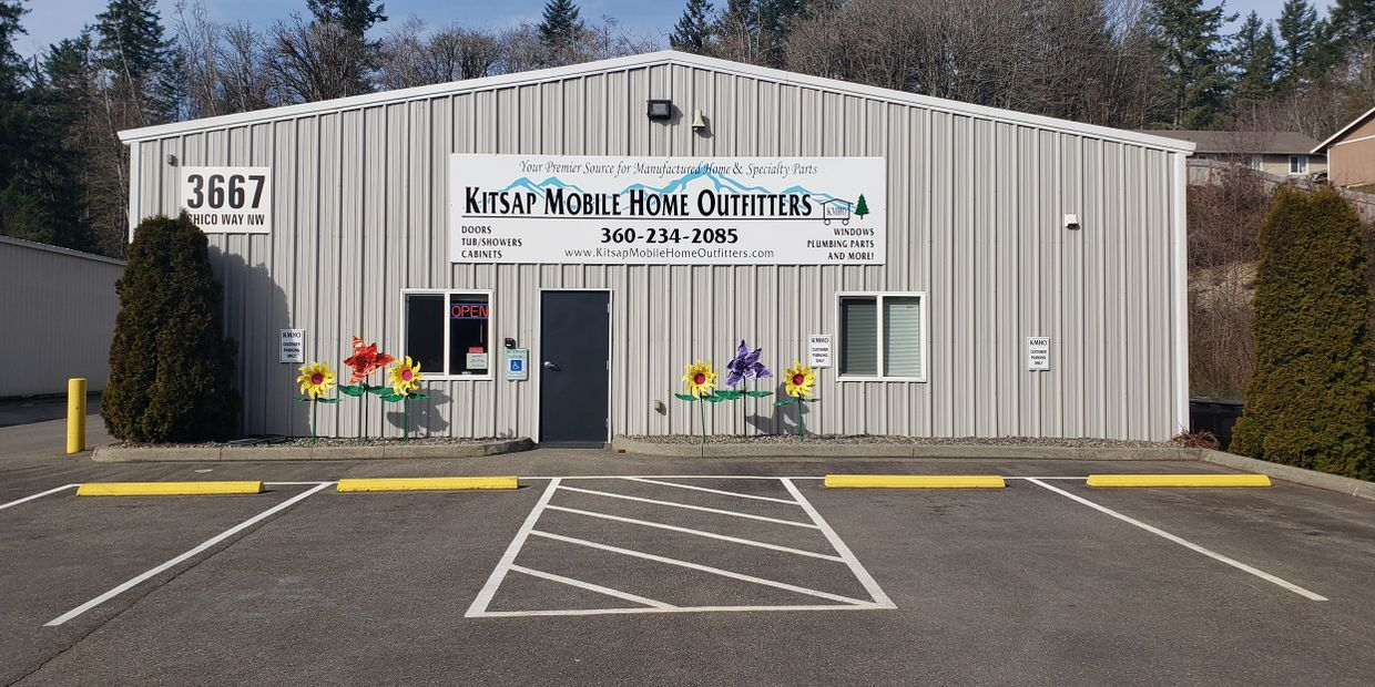 Mobile home repair parts and manufactured home parts in stock in Kitsap