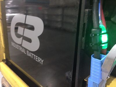 SmartBlinky Pro installed on a new 48 Volt GB Industrial Battery.