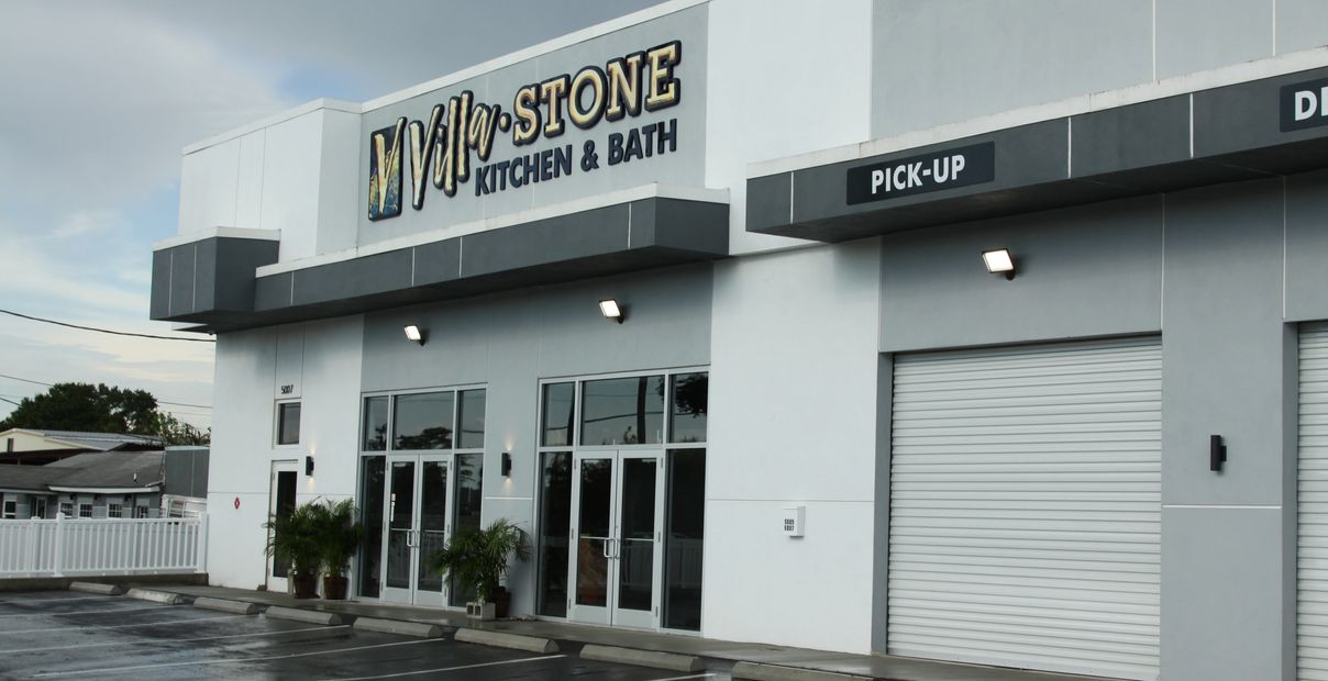 Villa Stone Kitchen & Bath exterior showroom building and loading dock