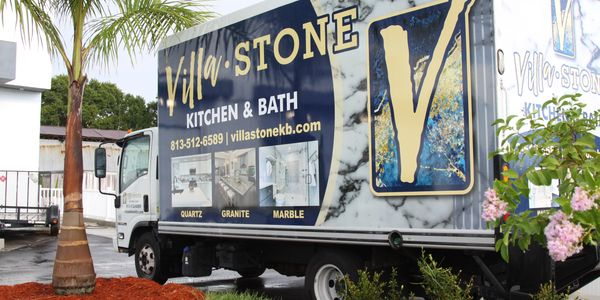 Villa Stone Kitchen & Bath delivery truck