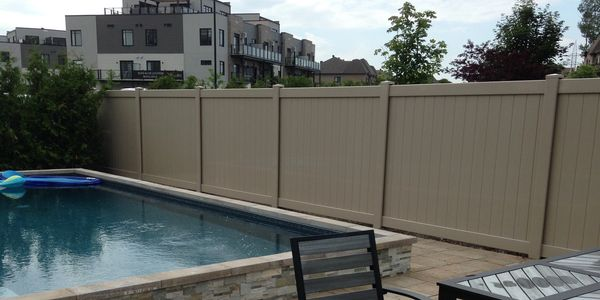 A fence done by our team in Ottawa