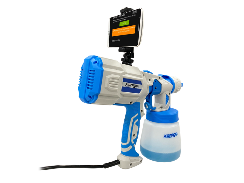 The Xanigo disinfectant sprayer has the ability to record your disinfecting process   with video to