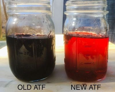 Old Automatic Transmission Fluid/ New Automatic Transmission Fluid
