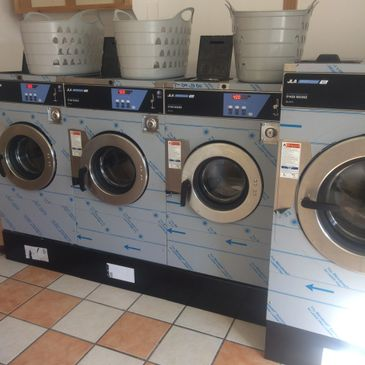 Our smart new launderette's machines
