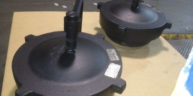 "4"" ASME CL600 threaded closures ready for shipment. includes vertical davit arm with 1/2"" NPT"