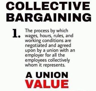 Negotiated, negotiations, union