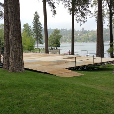 2400 S.F. Level platform 0'x14' foe wedding. Lake Arrowhead