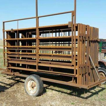 Cattle Panels and Panel Trailer
