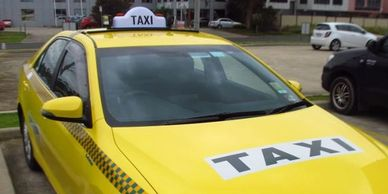 Taxi Signs, Taxi Decals, Taxi lights and roof racks